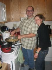 Allison and I make Pad Thai